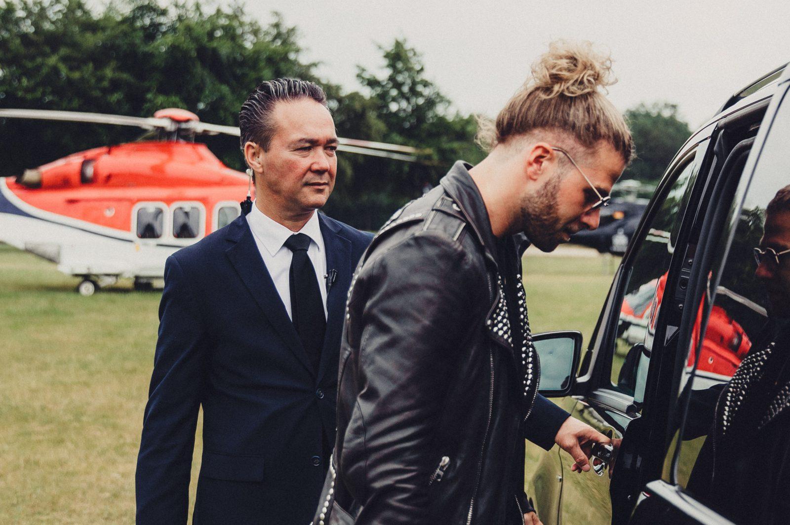 VIP DJ vervoer helikopter